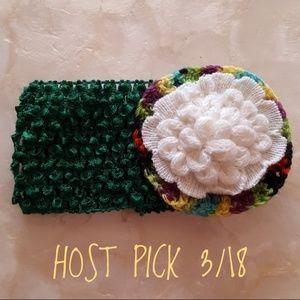 Other - stretchy baby/child's headband crochet flower